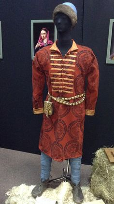 Clothes of a wealthy man. Chernihiv, Ukraine (Kievan Rus'). The 10th century. Reconstruction made by Olexandr Chesnykh