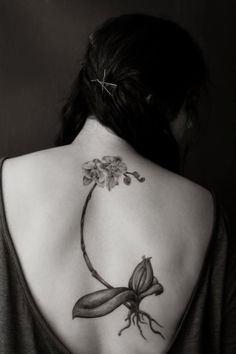 Orchid tattoo. Beautiful.
