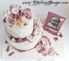 dåpskake marsipan - Google-søk Beautiful Cakes, Amazing Cakes, Fondant, Baby Shower Invitations, Cake Toppers, Desserts, Image, Cakes, Diet