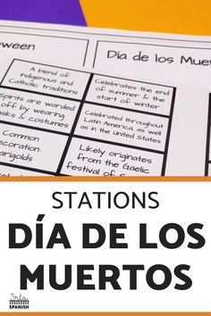 Check out some engaging options for station ideas, cultural activities, and crafts you could include for Day of the Dead Activities for Spanish class! Help your students or kids learn everything about the Day of the Dead with this collection of Día de los Muertos lesson plans and resources. This post is great for any middle or high school Spanish class studying el Día de los Muertos, the Day of the Dead. Class decor, writing activities, games, and more included! Click through to learn more! Class Activities, Writing Activities, Middle School Spanish, Spanish Lesson Plans, Spanish 1, Class Decoration, Spanish Classroom, Day Of The Dead, Studying
