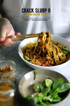CRACK SLURP PT 2 - MAH KHAO SOI (the ultimate guide to building asian noodles)// lady and pups