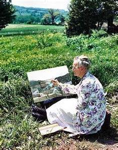 Grandma Moses; she began her painting career at age 76 ::: I guess you're never too old to learn ... ◠‿◠