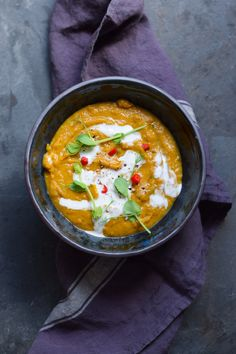 INDIAN SPICED SWEET POTATO AND GINGER SOUP