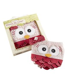 Look at this #zulilyfind! Baby Aspen Pink Whoo's the Cutest? Owl Diaper Cover by Baby Aspen #zulilyfinds