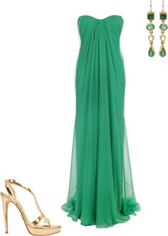 """Alexander McQueen emerald dress"" by smoore5764 on Polyvore"