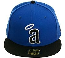 New Era 2Tone Los Angeles Angels 1972 Fitted Hat - Royal Blue, Black, White