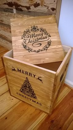 Weihnachtstruhe Truhe Kiste Teekiste Weinkiste Box
