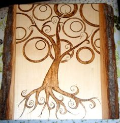Tree of Life Pyrography by me