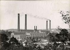 Värtaverket fotograferat under mellankrigstiden i juni 1938. Värtaverket, a #CHP plant in Stockholm, photographed in June 1938.