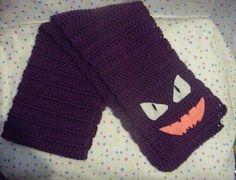 crochet pokemon scarf | Someone asked me to make this, it's Haunter of Pokemon: