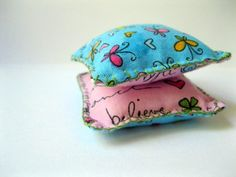 Pair of  Pocket Hand Warmers Butterflies by SeeAnnaSew on Etsy, $4.00
