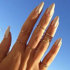 nude nails. cute idea  http://makeupbag.tumblr.com/