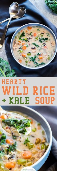 A good soup can warm the heart and cast out a cold. Good soups are timeless. This, here, is a good soup. This Hearty Wild Rice and Kale Soup is as filling as it is nutritious. Its loaded with healthy grains and vegetables, while still having an incredibl