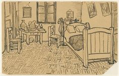 Drawing sent with a letter to his brother Theo, Arles, 16 Oct. 1888,  Amsterdam, Van Gogh Museum