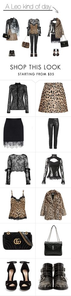 """""""A leo kind of day"""" by sascha-haarup ❤ liked on Polyvore featuring Givenchy, Carven, Philosophy di Lorenzo Serafini, Boohoo, Dolce&Gabbana, Gucci, Yves Saint Laurent, Alexander McQueen and Chloé"""