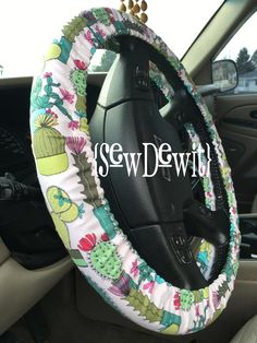 Excited to share this item from my shop: Steering Wheel Cover Cactus Cacti Arizona Southwestern Desert Plant Succulent Fabric Gift Idea Teacher Appreciation Holiday Birthday Car Trash, Trash Bag, Cute Car Accessories, Cactus Decor, Cactus Y Suculentas, Fabric Gifts, Cute Cars, Wheel Cover, Teacher Gifts