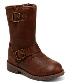 Loving this Brown Aqion Buckle Boot on #zulily! #zulilyfinds