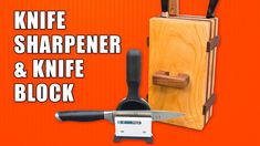 How to Make an Easy Knife Block. #woodworking