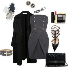 Gray Bandeau Dress outfit created by tsteele