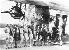 United operated the first stewardess' school in the world in Cheyenne from 1927 until 1961, when they moved it to Chicago.  The stewardesses were known to congregate in Peacock Alley at the Plains Hotel.  Cheyenne, Wyoming, is known for a lot of firsts, especially in the advancement of women.