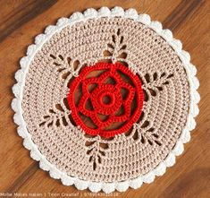 Mollie Makes Doily: the pattern is not written in English, so you need a translating program. Google Translate does just fine, if you have that.