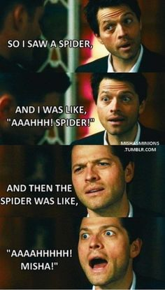 Misha Collins <3 Bahahaha Idk why this made me laugh so hard but it totally did.