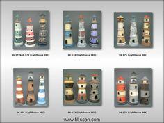 clay pot lighthouse ideas