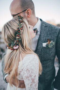 Kim & Teja: Verspielte Winterhochzeit im Boho-Stil JEANNINE ALFES http://www.hochzeitswahn.de/inspirationen/kim-teja-verspielte-winterhochzeit-im-boho-stil/ #wedding #winter #boho