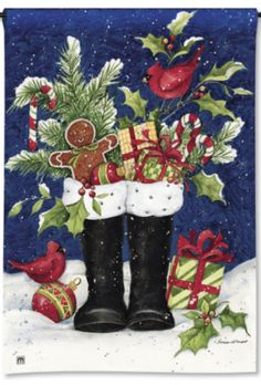 dotties candy canes | ... Boots, Gingerbread Man, Cardinals, Candy Canes. Christmas Garden Flag