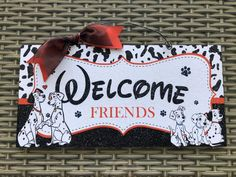 Excited to share this item from my #etsy shop: Dalmatian Sign, Dalmatian Door Hanger, Disney Wreath, Disney dog Welcome Sign, Disney Office Welcome Sign, Disney Front Door Sign Decor Dog Classes, Disney Wreath, Welcome Signs Front Door, Thanksgiving Signs, Disney Dogs, Holiday Signs, Class Decoration, Halloween Signs, Recycled Wood