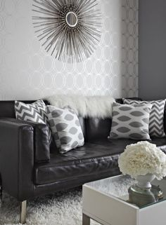 Our Flatiron & Ikat Dot pillows liven up this fantastic room makeover in @Canadian Living magazine.