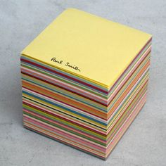 Paul Smith blockmemo.  Personalized sticky notes?  I need these!