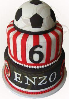 Milan Football Club cake - Caketutes Cake Designer - Soccer