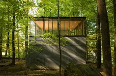 Scholars Library by GLUCK+  A simple two level box set deep into the woods of the Catskill Mountains; the upper level providing an amazing 3...