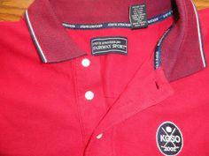 Men's Steve Stricker SZ XXL Red Golf Shirt KGSO 2002 Logo #SteveStricker #PoloRugby