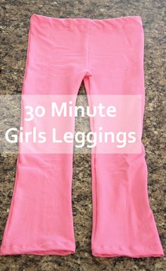 30 minute girls leggings with Riley Blake Knit Fabric #rileyblakedesigns #knit #leggings #tutorial