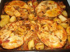 ΞΙΦΙΑΣ ΣΤΟ ΦΟΥΡΝΟ Light Recipes, Paella, Seafood Recipes, I Am Awesome, Recipies, Meals, Chicken, Ethnic Recipes, Exercises