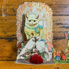 Vintage Valentine Cats and floral The Junk Parlor • Vintage & An. Discover (and save!) your own Pins on Pinterest Flower Frog, Antiques For Sale, Antique Decor, Metal Flowers, Vintage Valentines, Valentine Decorations, Vintage Items, Old Things, Diy Projects