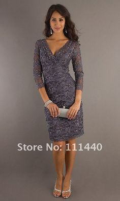 2012-Black-Lace-Cocktail-Dress-Lace-Sequins-Sleeves-V-Neck-Dress-mixed-group-of-support.jpg (500×833)