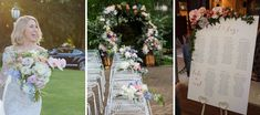 Real Wedding – Suzi & Elliot - Ceremony Styling - Seating Chart - Floral Arch