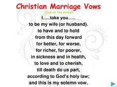 marriage wedding vows christian marriage vowsi love reading these just to remind