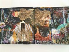 """multifaceted"" art journal spread - by bun blog, artist: roxanne coble"