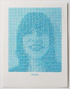 Stitched Portrait Project by Evelin Kasikov