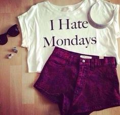 Summer outfit. I hate Mondays too.