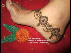 Unique Anklet Payal Ornament Jewellery Inspired Henna Mehndi Design for Feet Tutorial - YouTube