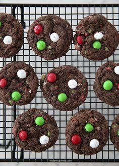 chocolate mint cake mix cookies.