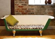 12 Fantastic Examples of Furniture Made From Recycled Items - This one is a Bathtub Sofa - Sofa Workshop