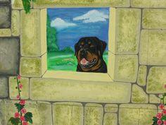 deel schilderij hond diezel