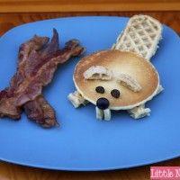 eggo beaver waffle breakfast