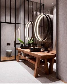 House interior design bathroom mirror for 2019 Bad Inspiration, Bathroom Inspiration, Interior Inspiration, Bathroom Ideas, Modern Bathroom, Restroom Ideas, Small Bathroom, Design Bathroom, Boy Bathroom